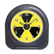 Atomic Compact Travel Alarm Clock (Battery Included) - Radioactive Warning - $9.94