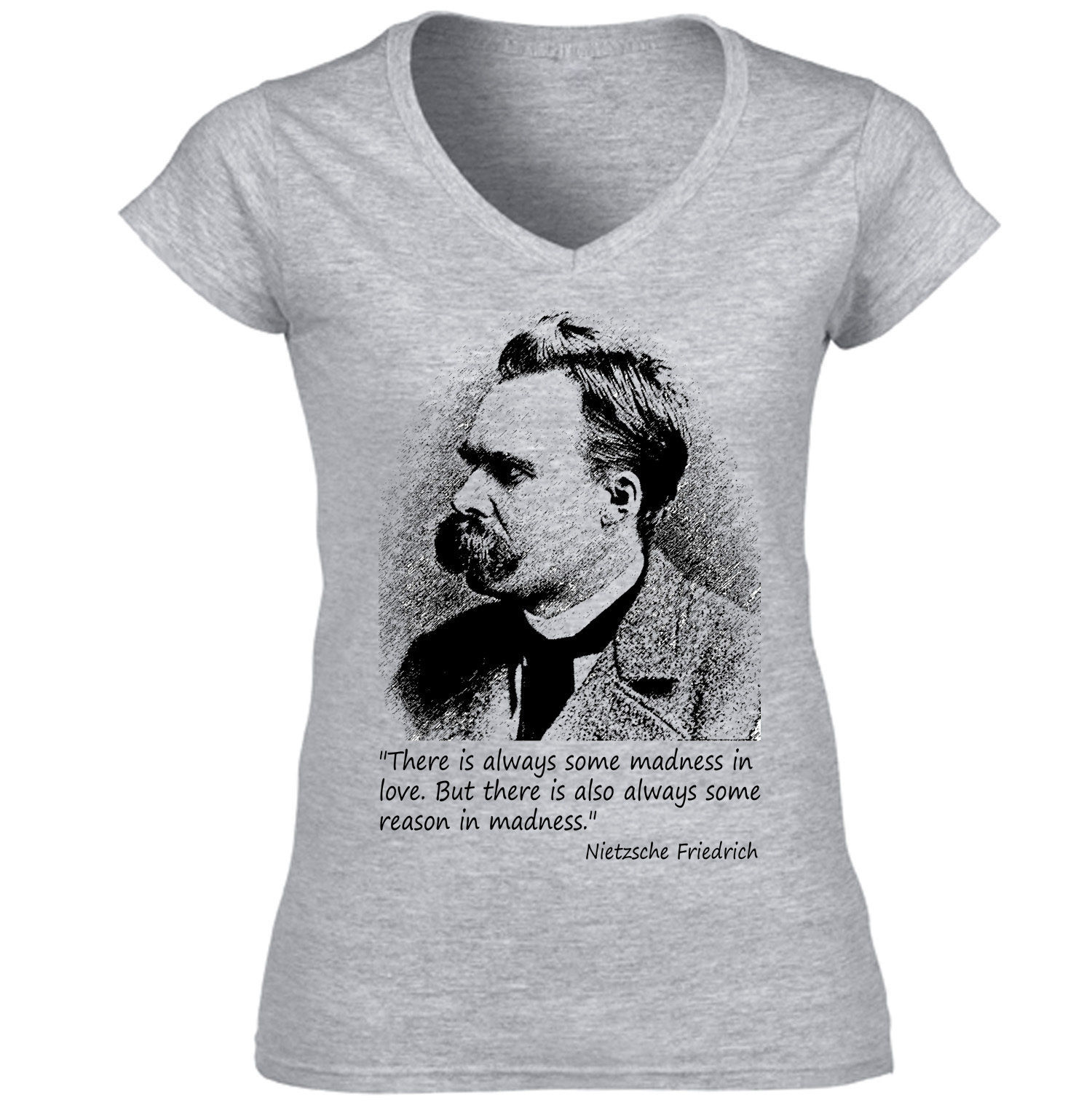 Primary image for Friedrich Nietzsche - NEW AMAZING GRAPHIC GREY T-SHIRT - S-M-L-XL-XXL