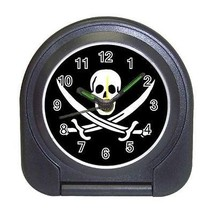 Pirate Compact Travel Alarm Clock (Battery Included) - Black Flag - $9.94