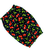 Dog Snood Bunches of Cherries Red Black Cotton Basset Hound Afghan Puppy... - $10.50