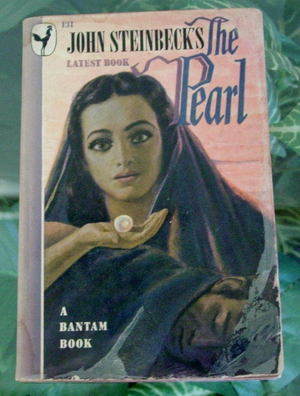 Primary image for 1947 John Steinbeck THE PEARL Vintage Bantam Paperback-Illustrated Movie Tie-In