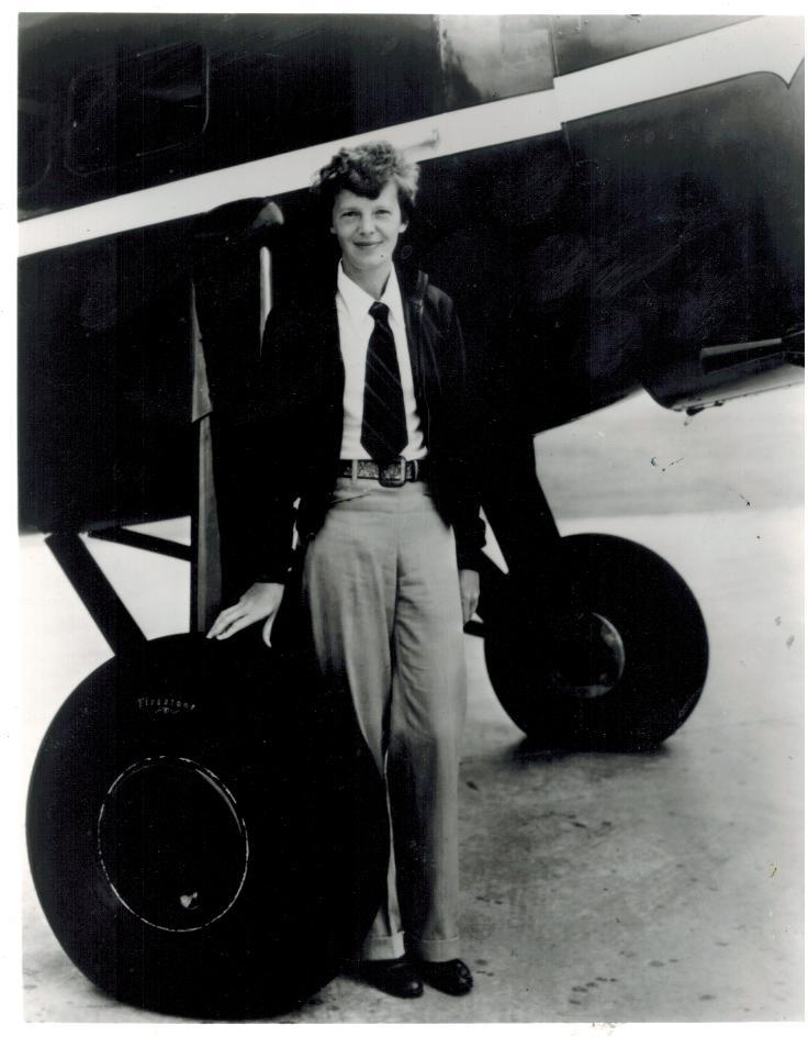 Primary image for Amelia Earhart Aviation Vintage 8X10 BW Historical Memorabilia Photo