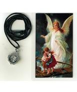 Necklace - Angel de la Guardia Medal & Holy Card - LH125.0950 - $6.99