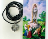 Necklace   virgen de fatima medal   holy card h125.0948 005 thumb155 crop