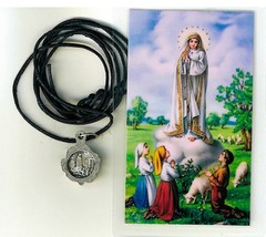 Necklace - Virgen de Fatima Medal & Holy Card - LH125.0948 - $6.99