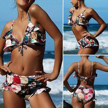 Women's Multicolor Floral High Waisted Bikini Tankini Swimwear Set image 1