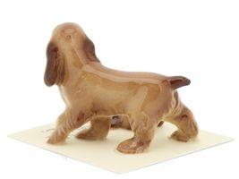 Hagen Renaker Miniature Dog Cocker Spaniel Papa and Pup Ceramic Figurine Set image 4