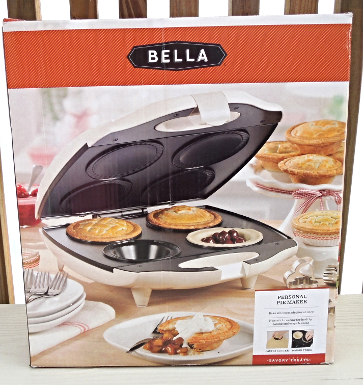 bella personal pie maker bakes 4 homemade pies at once