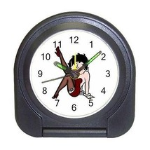 Betty Boop Black Talkartoon Compact Travel Alarm Clock (Battery Included) - $9.94