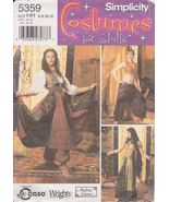 Simplicity 5359 GYPSY BELLY DANCER COSTUMES 6-8-10-12  - $34.00