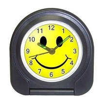 Smiley Face Compact Travel Alarm Clock (Battery Included) - Be Happy Eve... - $9.94