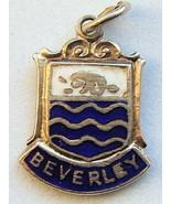 BEVERLEY, ENGLAND - Silver Enamel Travel Shield Charm - $29.95