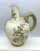 """Royal Worcester Small Jug Pitcher Hand-Painted 5 1/8"""" Tall - $49.45"""