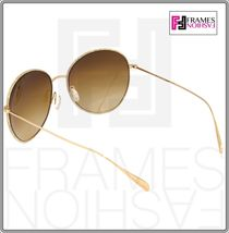 OLIVER PEOPLES BLONDELL 1102 Gold Titanium Brown Beige Polarized Sunglass 1102ST image 5