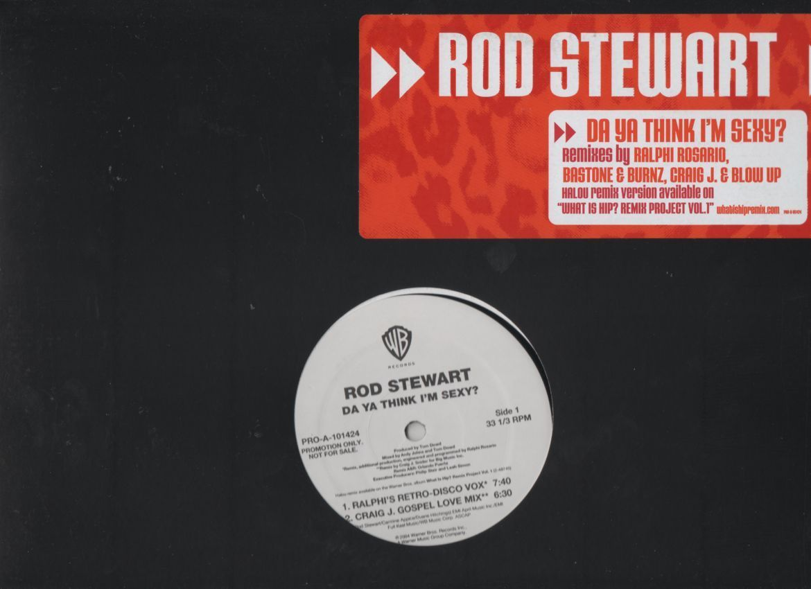 Primary image for Rod Stewart Da Ya Think I'm Sexy Limited Edition Remixes Promo 2004 Vinyl LP