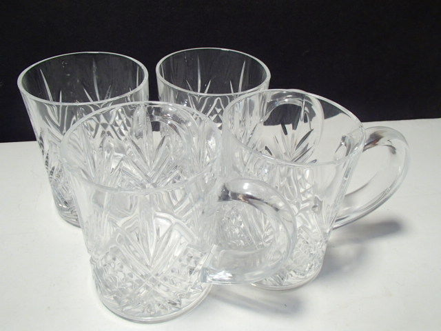 Primary image for 4 CRISTAL D'ARQUES MASQUERADE COFFEE / TEA MUGS~~~~NICE ONES