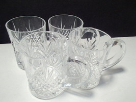 4 CRISTAL D'ARQUES MASQUERADE COFFEE / TEA MUGS~~~~NICE ONES - $19.95