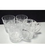 4 CRISTAL D'ARQUES MASQUERADE COFFEE / TEA MUGS~~~~NICE ONES - $19.95