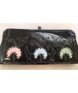 Antique Black Patent Leather Clutch - $31.68