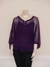 DIANE von FURSTENBERG PEELO PLUM TOP BLOUSE - US 4 - UK 8 - £65.75 GBP