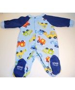 Carter's boys One piece footie pajamas construction trucks New Born - $6.95
