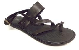 BORN Size 10 FAVIGNANA Black Ankle Strap Sandals Shoes - $49.00