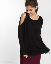 EXPRESS Zip Cold Shoulder Tunic Sweater Black XS sold out - $39.50
