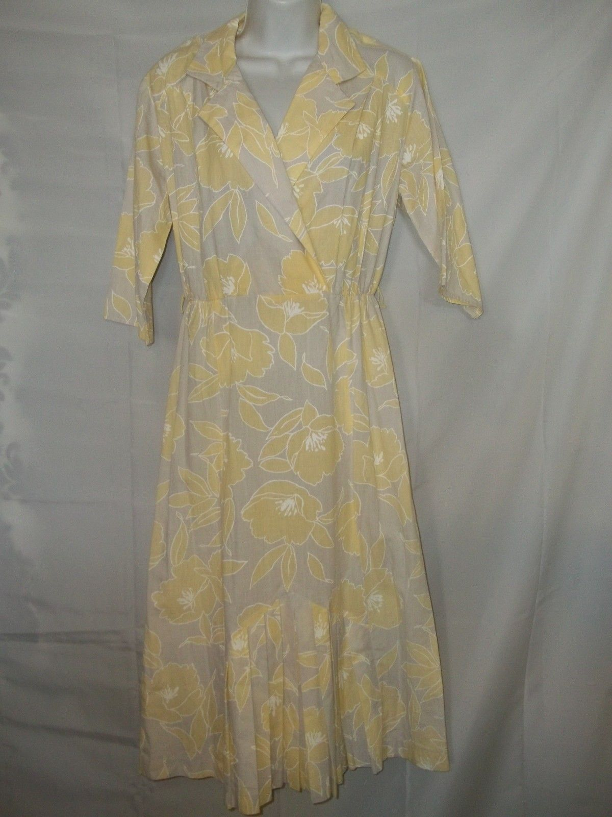 Primary image for Ladies Size 9/10 Lerner Pleated Front Poly/Cotton 80's Dress
