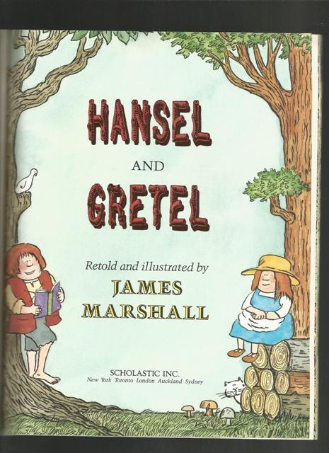 Hansel and Gretel, James Marshal, 1991 Softcover Children's Classic Storybook
