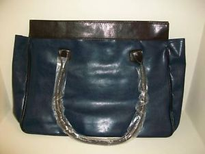 Primary image for Estee Lauder Tote Purse Hand Laptop Bag BROWN BLUE New
