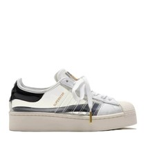 Neu Original Adidas Damen Original Bold Schuhe Weiß/Schwarze Turnschuhe - $211.80+