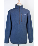 COLUMBIA OMNI SHIELD PULL OVER SWEATER MEN'S SIZE LARGE BLUE - $34.29