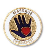 Massage Therapist Medical Emblem Lapel Pin New - $12.71