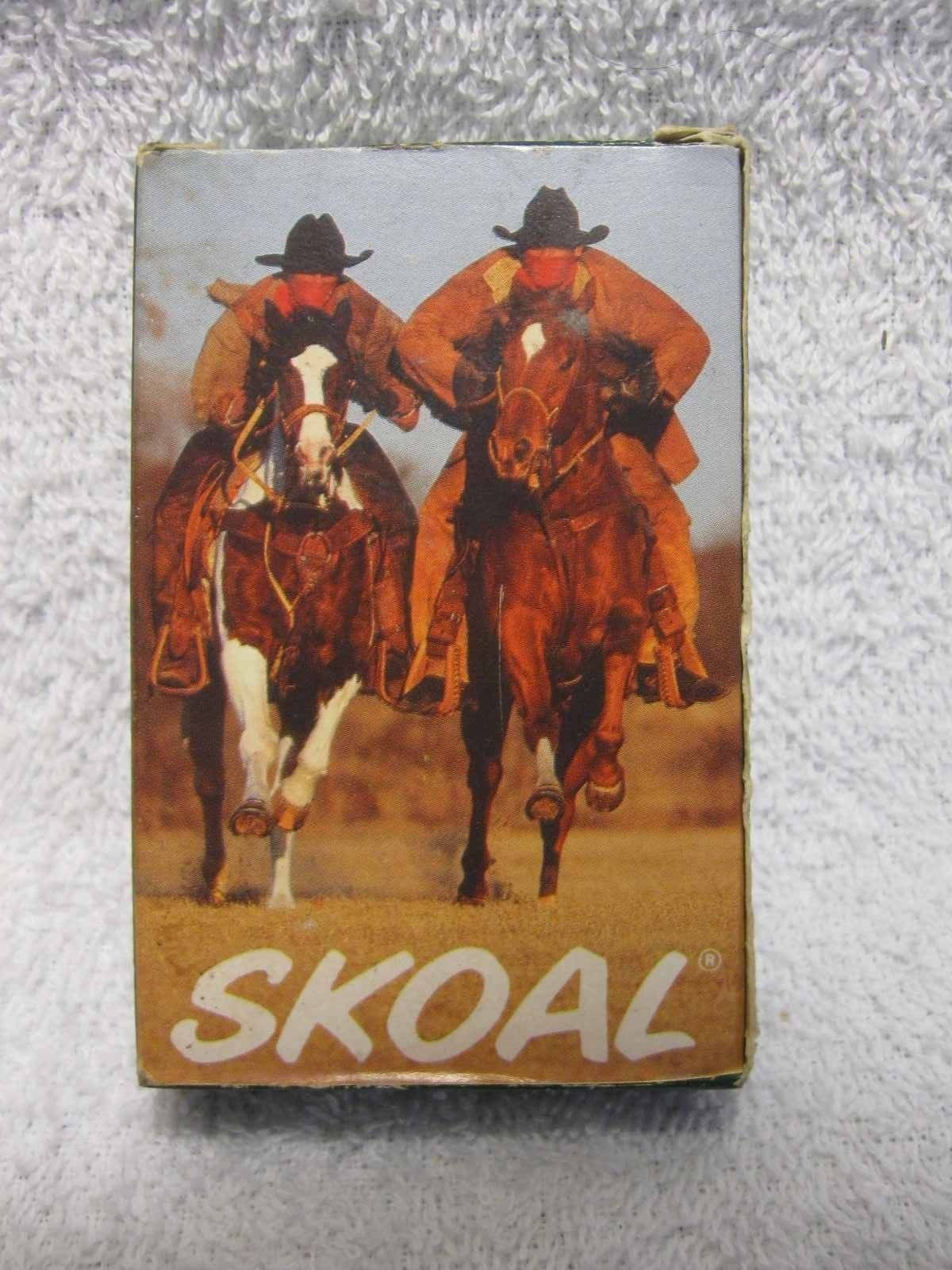 Primary image for SKOAL PLAYING CARDS-MADE IN THE USA-1992 US TOBACCO COMPANY-UNIQUE-COLLECTIBLE!!
