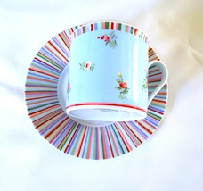 Collectable Laura Ashley Kelidescope Cup and Sa... - $9.99
