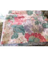 3 yds x 3 yds Reclaimed Fabric Floral Design-Muted Pink Green Lilac Cham... - $12.99