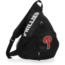 PHILADELPHIA PHILLIES SLING BACKPACK BAG BLACK MLB NWT FREE SHIPPING! - $22.99