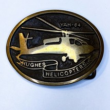 Vintage Howard Hughes Helicopters Brass Belt Buckle YAH-64 Numbered AB10... - $53.15