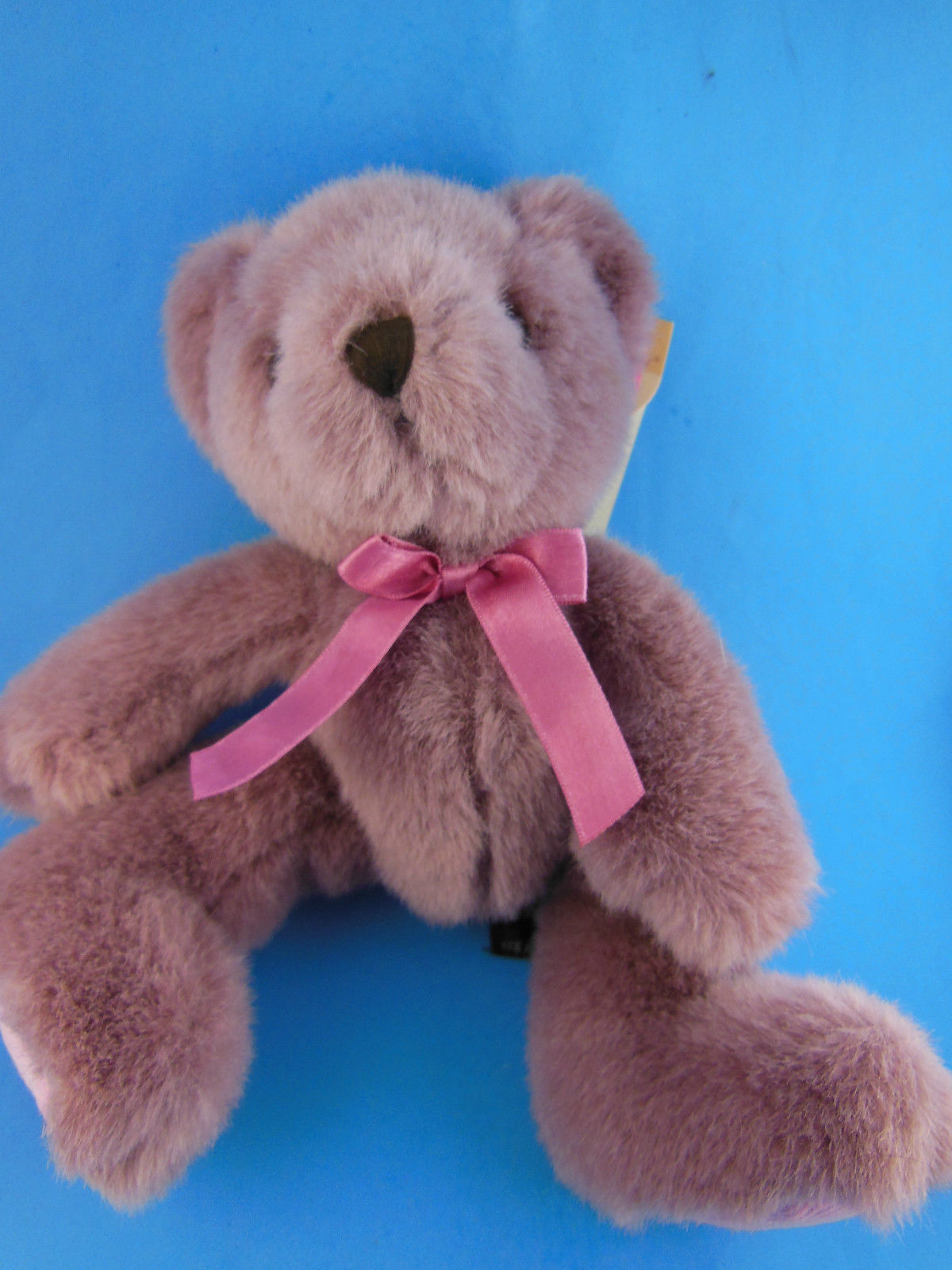 "Primary image for Russ Berrie Bear Hugs  Plush 10"" Corduroy Feet Dusty lavender Teddy Bear"