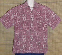 Cooke Street Hawaiian Shirt Red Reverse Pattern Large - $29.95