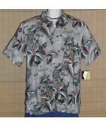 CROFT BARROW Hawaiian Shirt Sage Gray Size Large - $29.95