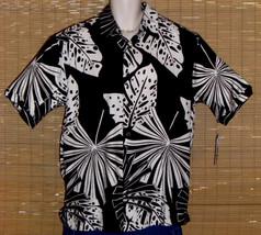 Cubavera Hawaiian Shirt Black White Large NWT - $39.95