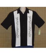 Cubavera Hawaiian Shirt Black White Small NWT - $39.95
