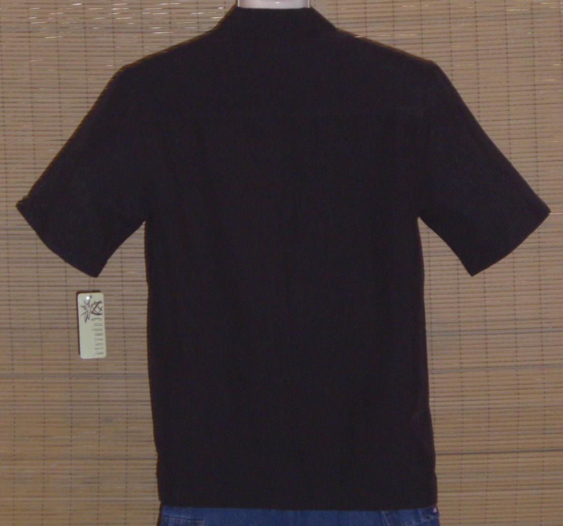 Cubavera Hawaiian Shirt Black White Small NWT