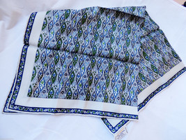 ECHO Japan Chinon Azlon Silk hand rolled Neck Scarf 23x23 - $29.70