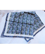 ECHO Japan Chinon Azlon Silk hand rolled Neck Scarf 23x23 - $29.70