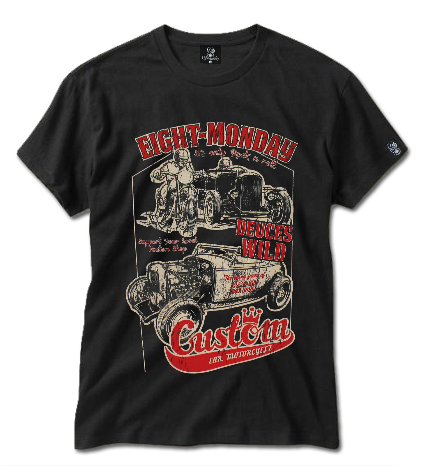 Primary image for Custom 32 Ford Hot Rod Deuces Garage Speed Shop Dragstrip 666 Mens T-Shirt