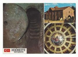 Turkey Derinkuyu Underground City Church Multiview Vintage Postcard 4X6 - $4.99