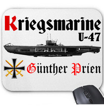 KRIEGSMARINE U-47 GUNTHER PRIEN GERMANY WWII - MOUSE MAT/PAD AMAZING DESIGN - $13.71