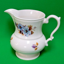 1975 Lord Nelson (England) 6-Inch Pottery Pitcher, Floral Design - $12.95